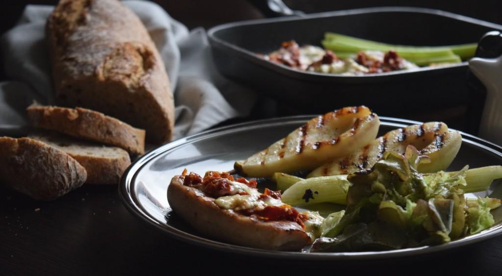 grilowany filet z indyka z gruszka i serem plesniowym ciekawostka