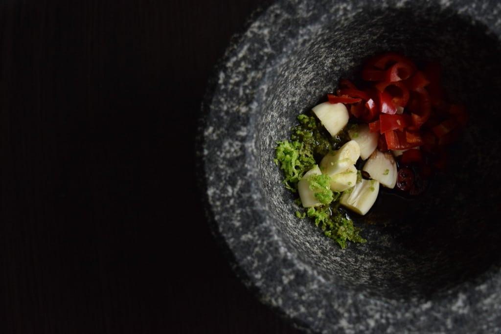 grilowany filet z indyka z gruszka i serem plesniowym przygotowanie1