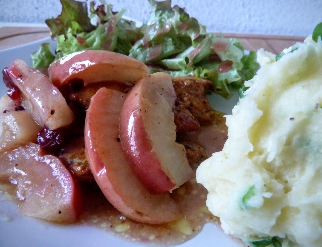 piers z kurczka z jablkiem i zurawina jablko