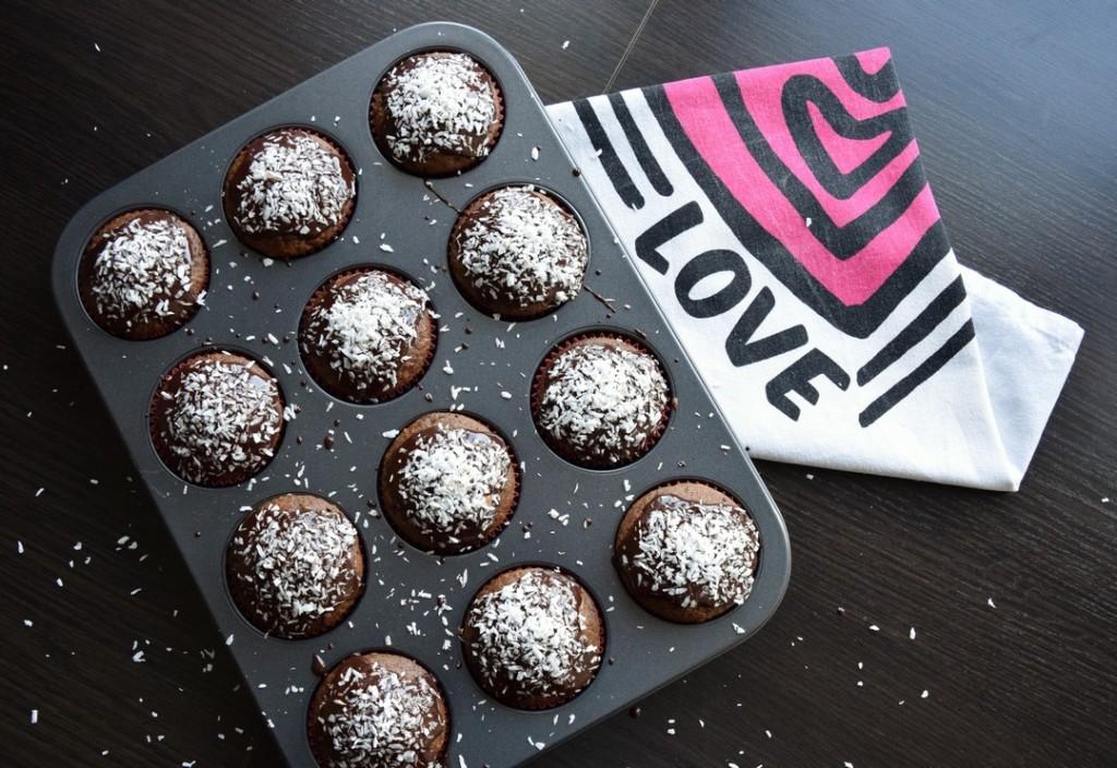 czekoladowe muffiny z wiórkami kokosowymi ciekawostka