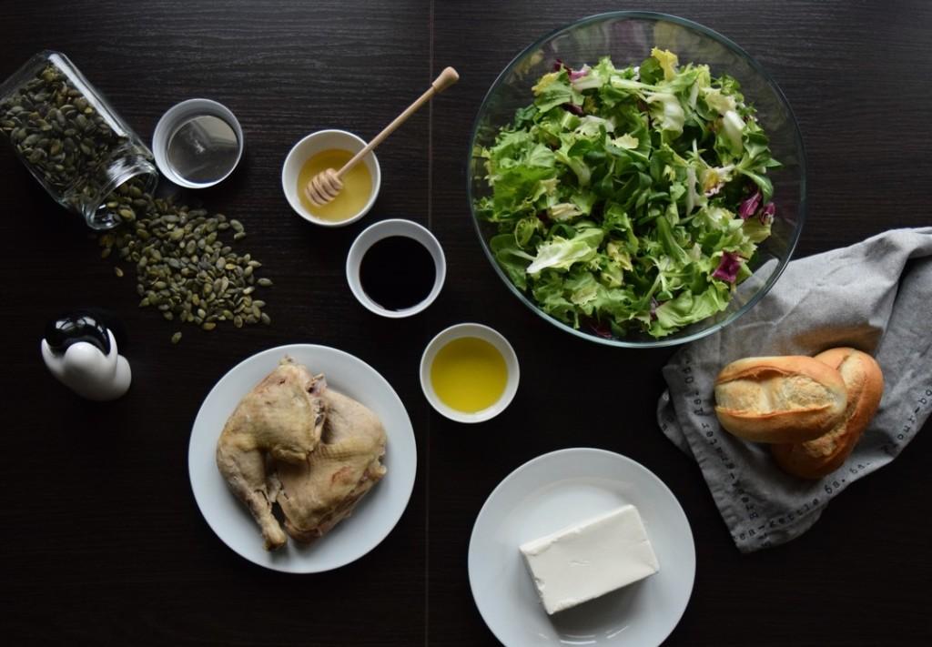 salatka z kurczakiem serem pestkami dyni skladniki