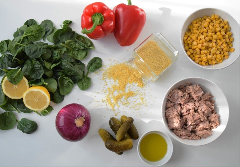 salatka z kaszy jaglanej z tunczykiem skladniki