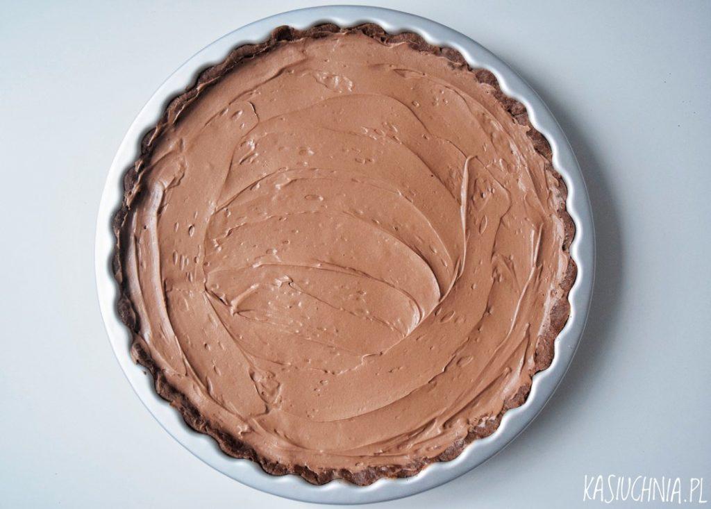 tarta czekoladowa przygotowanie z góry