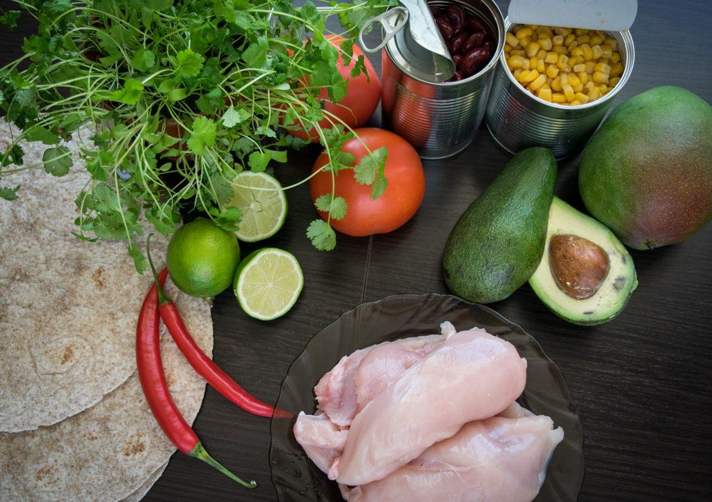 tortilla meksykanska z kurczakiem skladniki