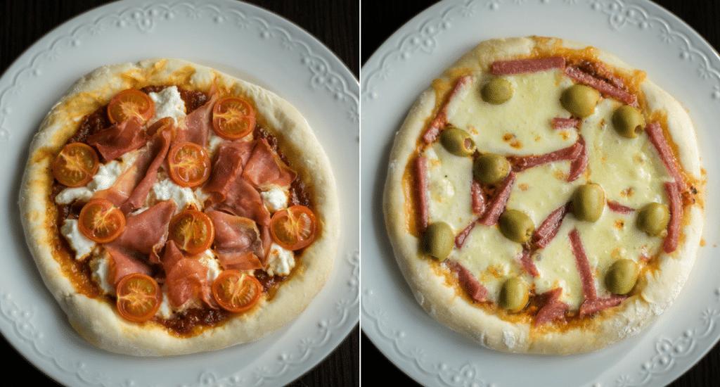 domowa pizza zdjecie z gory glowne