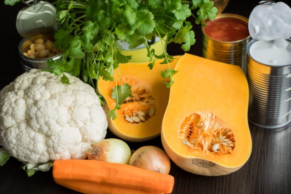 warzywne curry składniki