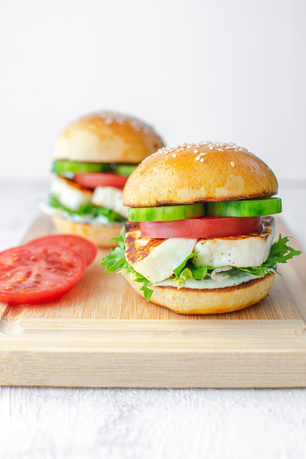 Burger-z-halloumi